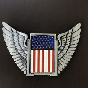 Other - AMERICAN FLAG WINGS BELT BUCKLE USA COWBOY